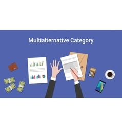 Working on multialternative category concept with vector