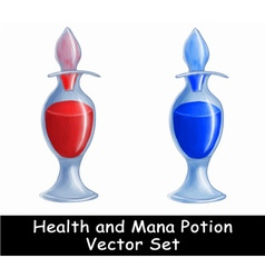 Health and Mana potion set vector image