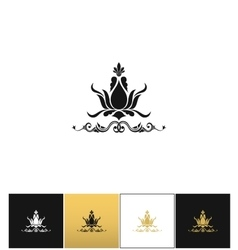 Floral spa logo or elegant flower leaves vector