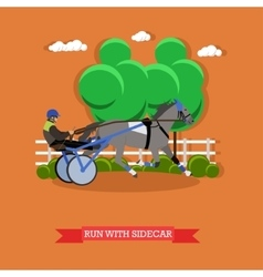 Harness horse racing design vector