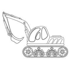 Dredge toy outlined vector