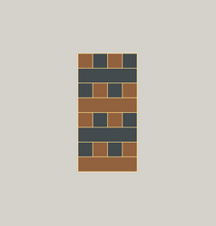 Wooden puzzle tower game table game vector