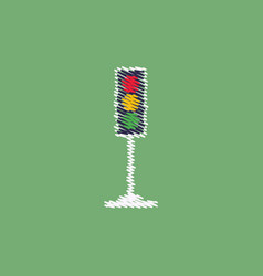 Flat icon design collection traffic light vector