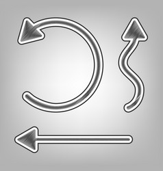Simple set to interface arrows  pencil vector