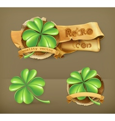 Lucky clover icon vector