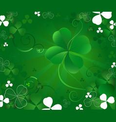 magic clover vector image