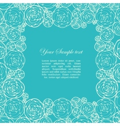 Ornamental frame with roses vector image