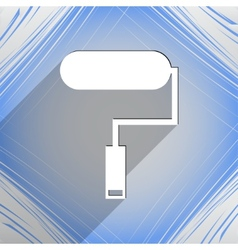 Paint roller icon symbol flat modern web design vector