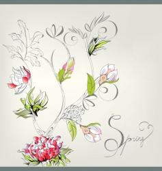 spring decorative card vector image