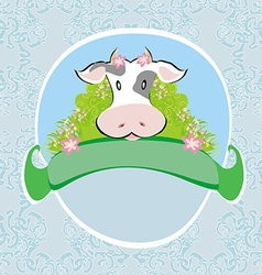 Funny cow signs vector