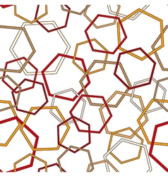Seamless geometric pattern with polygonal figures vector