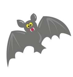 Cute hand drawn bat isolated on white background vector
