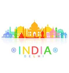 India Travel Landmarks vector image