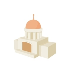 Temple building icon cartoon style vector