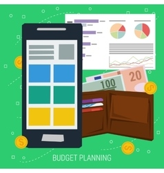 Concept budget planning vector