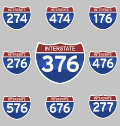 Interstate signs vector