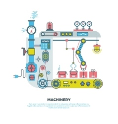 Robotic industrial abstract machine machinery in vector