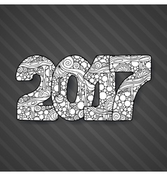 Happy new year 2017 celebration number vector