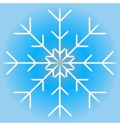 a snowflake vector image vector image