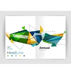 Abstract background annual report template vector