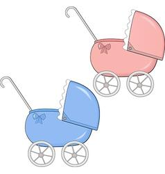 baby stroller vector image vector image