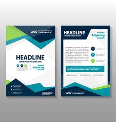 Blue green annual report leaflet brochure flyer vector