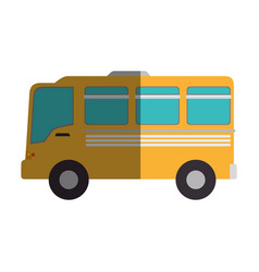bus vehicle isolated icon vector image