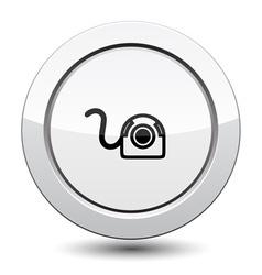 Button with Web Camera Icon vector image