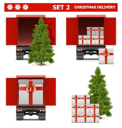 Christmas delivery set 2 vector
