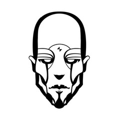 contour pattern of a cyborg vector image