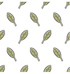 Cute leaves seamless pattern vector