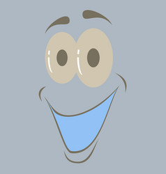 Flat icons on theme cartoon face funny emotion vector