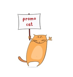 funny promo cat vector image vector image
