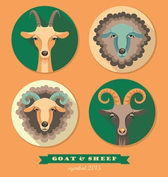 Goat and sheep vector