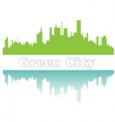 Green city sketch vector illustration vector