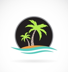 image of an summer logo design vector image
