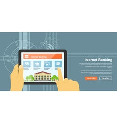 Internet banking 3 vector image vector image
