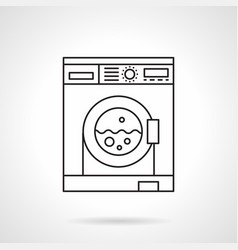 laundry services flat line icon vector image vector image