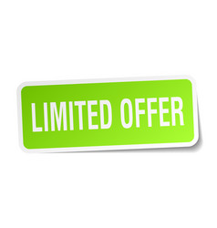 Limited offer square sticker on white vector