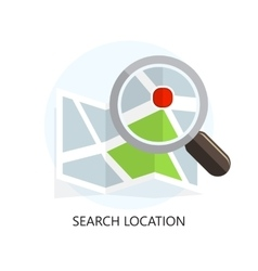Location Icon Search Concept Flat Design vector image