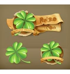 Lucky clover icon vector