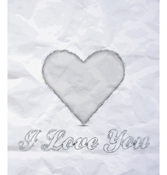 Message I love You vector image vector image