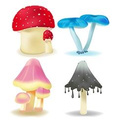 Mushroom Isolate Pack Set vector image vector image