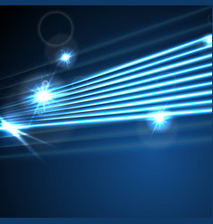 Neon glowing laser beams lines abstract background vector