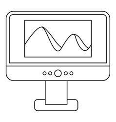 Photo on computer monitor icon outline style vector