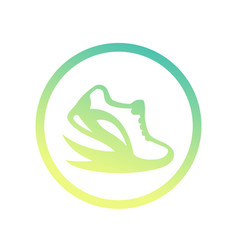 running logo element icon over white vector image