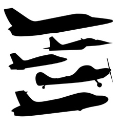 set of different airplane icons vector image