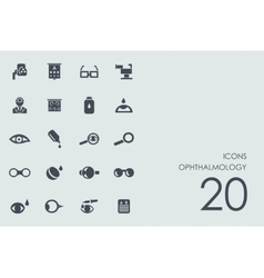 Set of ophthalmology icons vector image