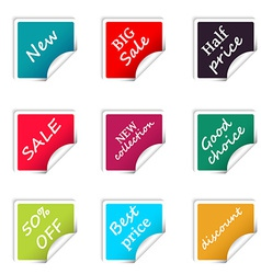 Set of web sale square stickers for online shop vector