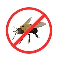sign of ban insects vector image